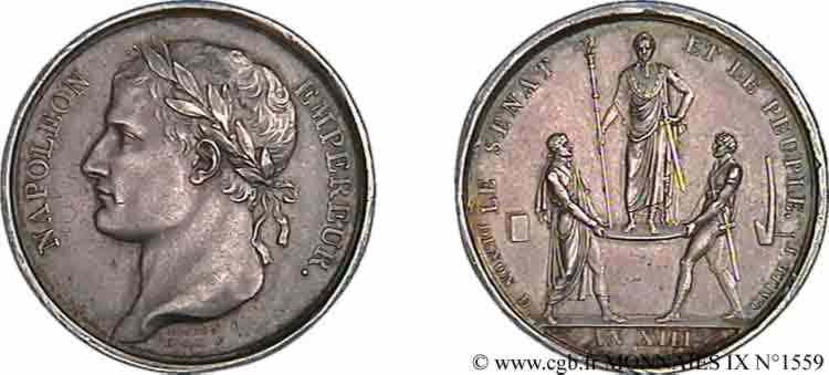 N° v09_1559 Médaille AR 26, sacre de l'empereur - AN XIII