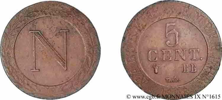 N° v09_1615 5 centimes - 1808