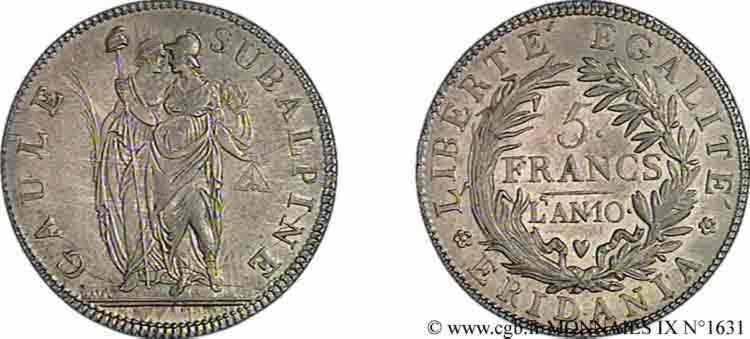 N° v09_1631 5 francs - an 10 (1801-1802)