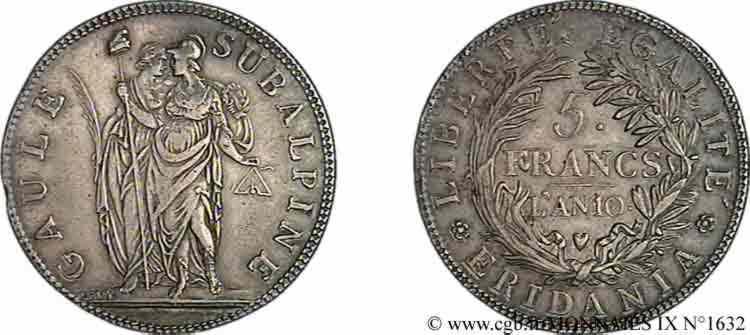 N° v09_1632 5 francs - an 10 (1801-1802)