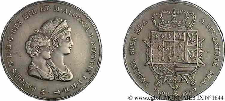 N° v09_1644 Dena ou 10 lires 2e type - 1807