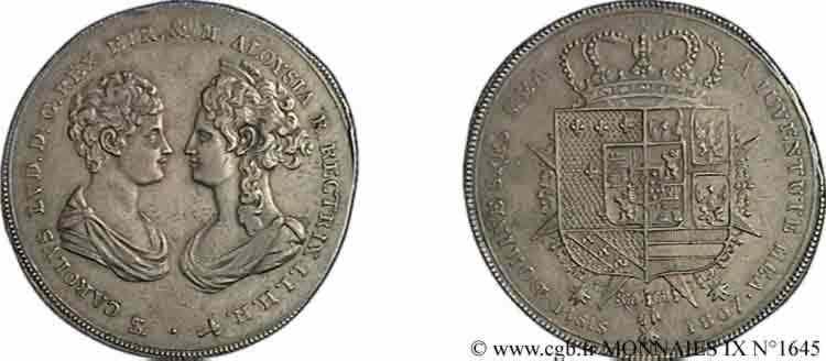 N° v09_1645 Francescone ou scudo 2e type - 1807