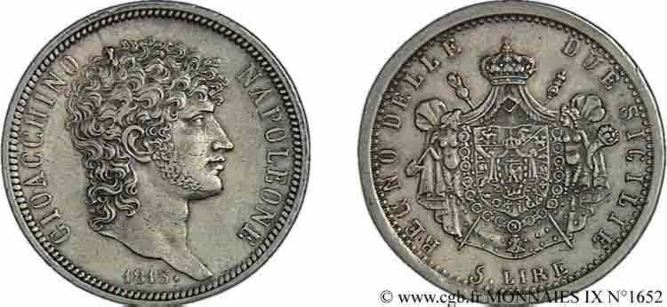 N° v09_1652 5 lires - 1813