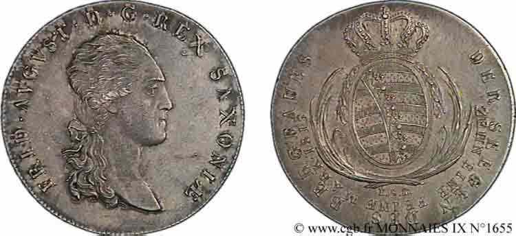 N° v09_1655 Thaler des mines 2e type (Ausbeutespeciestaler) - 1813