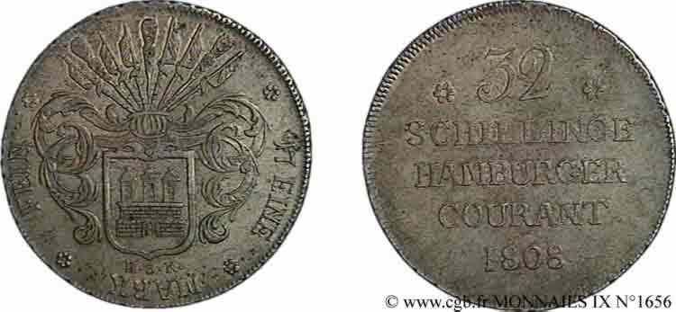 N° v09_1656 32 schillinge, grand module - 1808