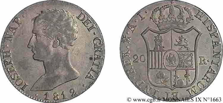 N° v09_1663 20 reales 2e type - 1812