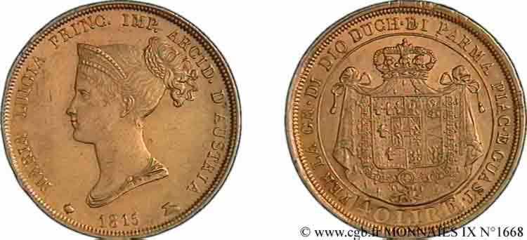 N° v09_1668 40 lires or - 1815
