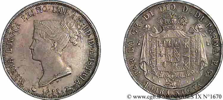 N° v09_1670 1 Lira nuova - 1815