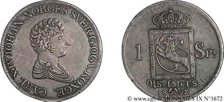 N° v09_1672 Speciesdaler 2e type - 1827/6