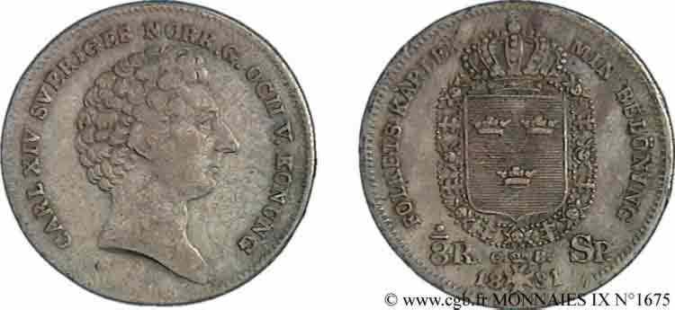N° v09_1675 Huitième de riksdaler specie - 1831