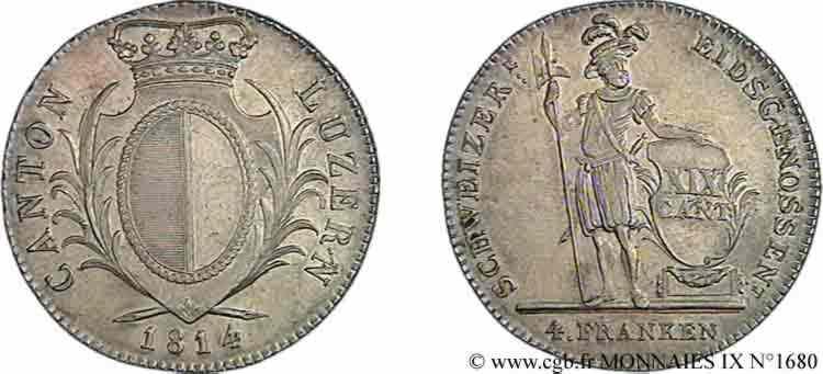 N° v09_1680 4 franken - 1813