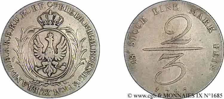 N° v09_1685 Deux-tiers de thaler - 1797