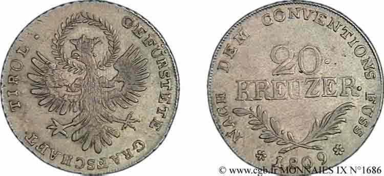 N° v09_1686 20 kreutzer - 1809