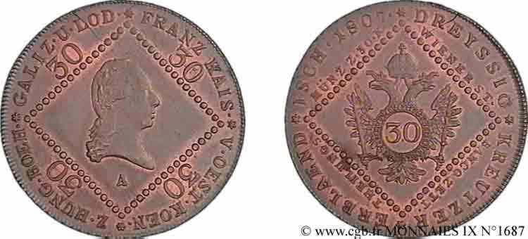 N° v09_1687 30 kreutzer - 1807
