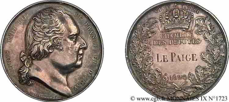 N° v09_1723 Médaille parlementaire AR 41, attribuée à Le Paige - 1824