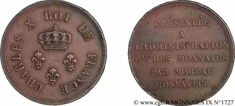 N° v09_1727 Essai de virole au module de 2 francs par Moreau - sd
