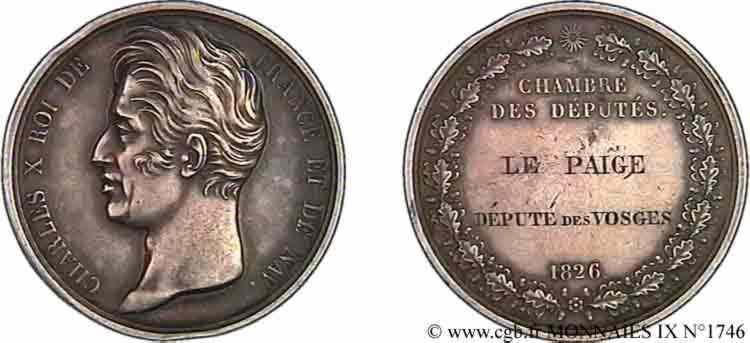 N° v09_1746 Médaille Parlementaire AR 41, attribuée à Le Paige - 1826