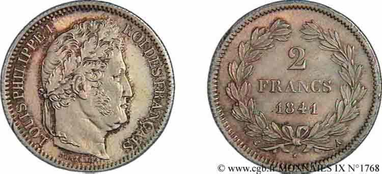 N° v09_1768 2 francs Louis-Philippe - 1841