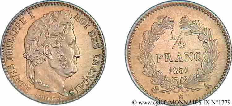N° v09_1779 Quart de franc Louis-Philippe - 1831