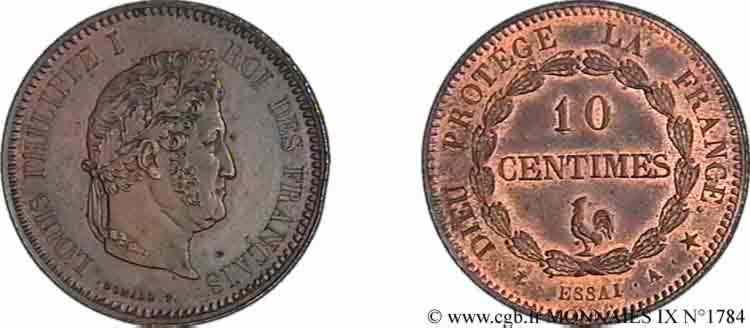 N° v09_1784 Essai de 10 centimes au coq - sd.