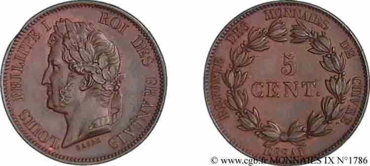 N° v09_1786 Essai de 5 centimes - sd.