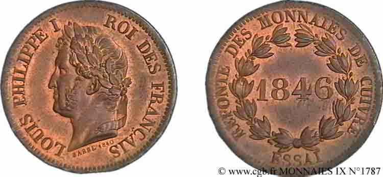 N° v09_1787 Essai de 5 centimes - 1846