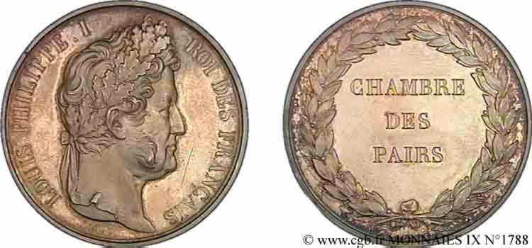 N° v09_1788 Médaille AR 56, Chambre des Pairs - sd.