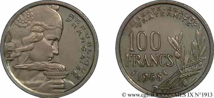 N° v09_1913 100 francs Cochet - 1958