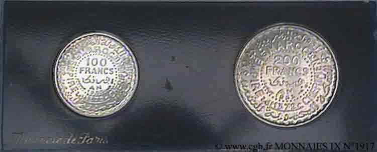 N° v09_1917 Lot de 2 essais pour le Maroc - 1953
