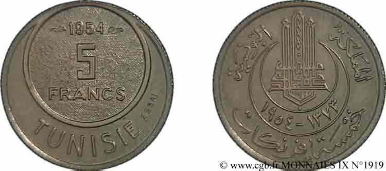 N° v09_1919 Essai de 5 francs - 1954