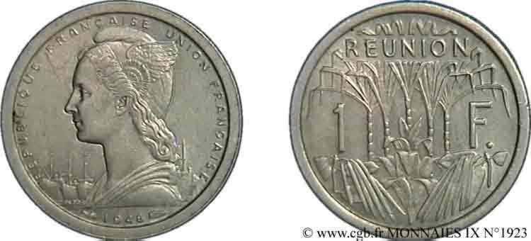 N° v09_1923 1 franc Union Française en aluminium - 1948