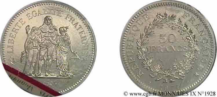 N° v09_1928 Essai de 50 francs Hercule - 1974