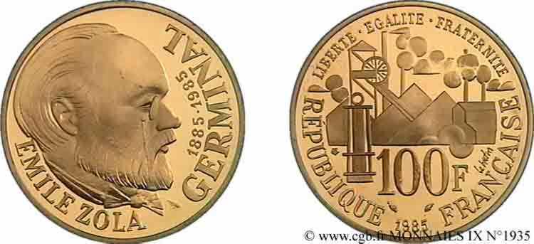 N° v09_1935 100 francs or Emile Zola - 1985