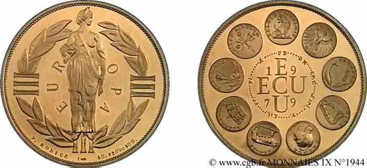 N° v09_1944 Écu (médaille) Or 41 - 1979