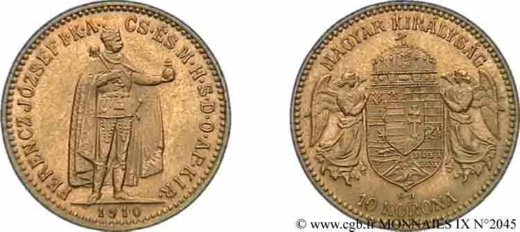N° v09_2045 10 korona en or - 1910