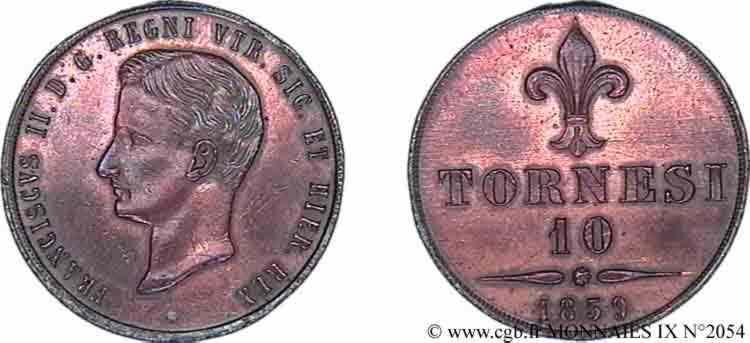 N° v09_2054 10 tornesi - 1859