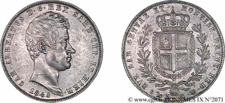 N° v09_2071 5 lires - 1848
