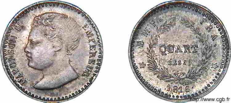 N° v10_0012 Essai de Quart de franc Napoléon II - 1816