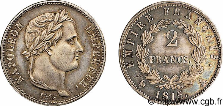 N° v10_0059 2 francs Cent jours, Frappe d'épreuve - 1815