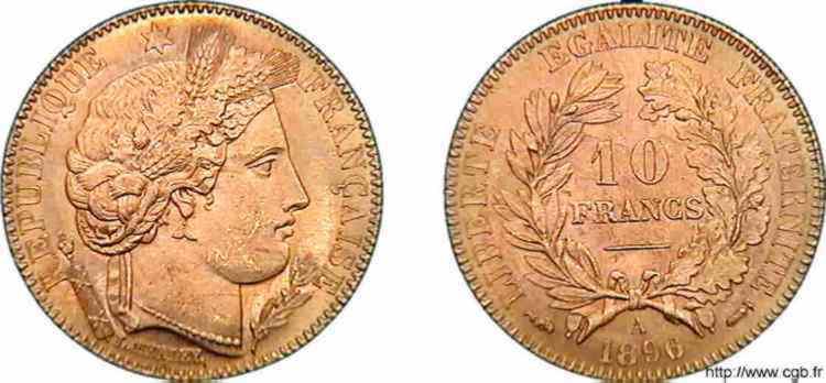 N° v10_0103 10 francs Cérès troisième République - 1896