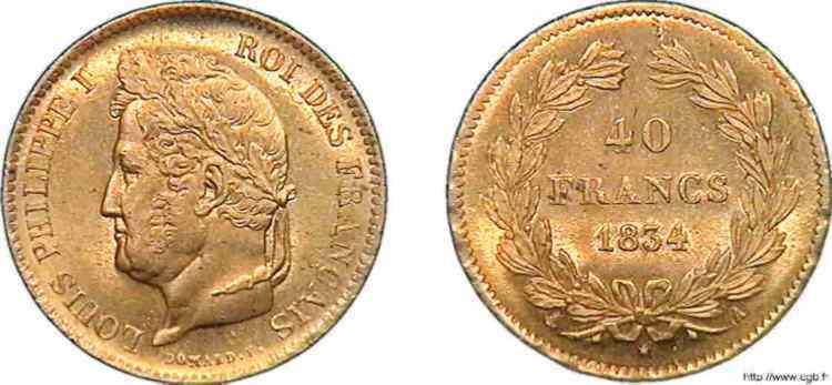 N° v10_0119 40 francs Louis-Philippe - 1834