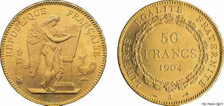 N° v10_0122 50 francs génie, troisième République - 1904